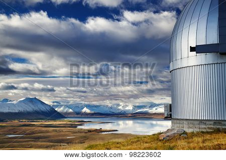 View from Mount John Observatory, Lake Tekapo, Mackenzie Country, New Zealand