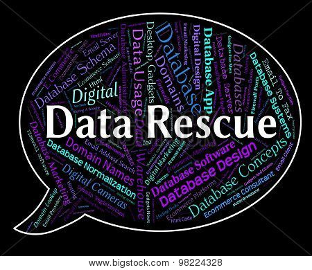 Data Rescue Meaning Words Save And Rescuing poster