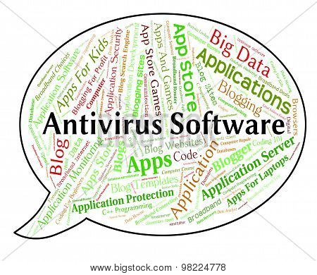Antivirus Software Indicates Application Shielding And Security