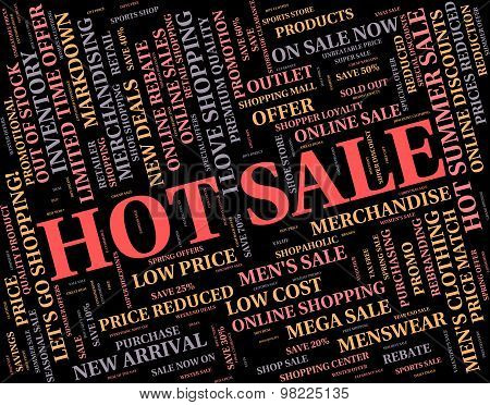 Hot Sale Indicates Number One And Bargain