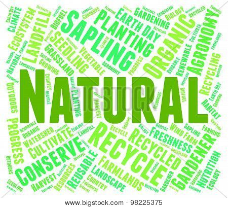 Natural Word Represents Genuine Untreated And Environmental