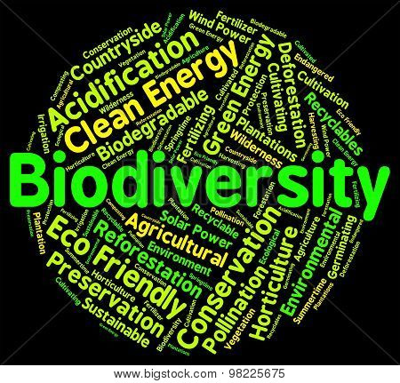 Biodiversity Word Means Plant Life And Animal