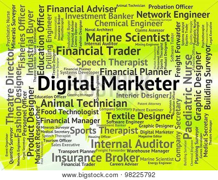 Digital Marketer Represents High Tec And Advertisers