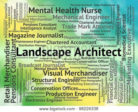 Landscape Architect Means Vista Designer And Natural
