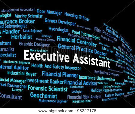 Executive Assistant Means Senior Administrator And Ceo