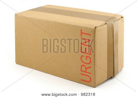 priority package isolated on white background . poster