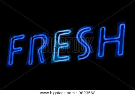 Neon sign - fresh