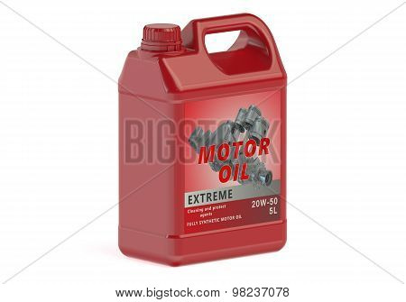 Red Canister Motor Oil