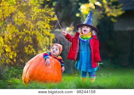 Kids Trick Or Treating At Halloween