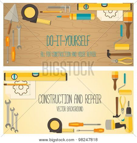 Web banner concept of DIY shop.