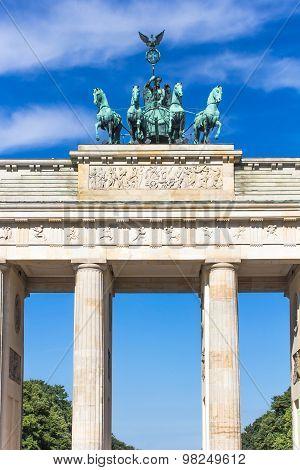 Quadriga Of The Brandenburg Gate. Berlin, Germany