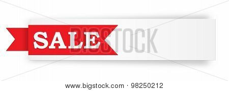 The Blank Sale White Banner
