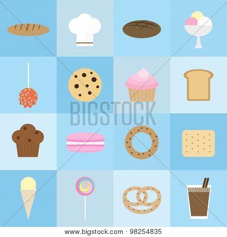 Bakery Icons Set.
