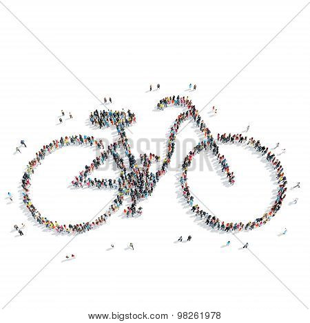 people  shape  bicycle sports