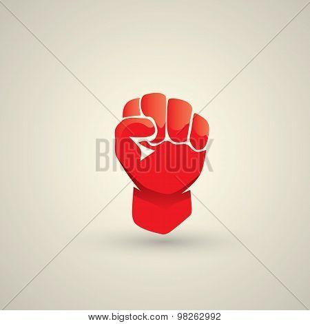 freedom concept. vector fist icon. fist logo poster