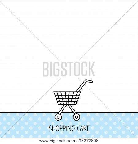 Shopping cart icon. Market buying sign.