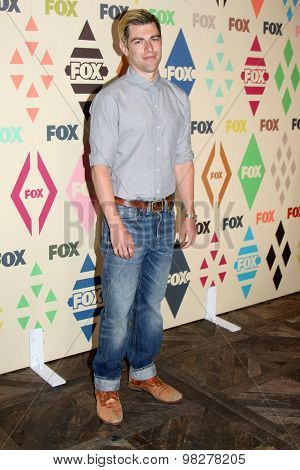 LOS ANGELES - AUG 6:  Max Greenfield at the FOX Summer TCA All-Star Party 2015 at the Soho House on August 6, 2015 in West Hollywood, CA