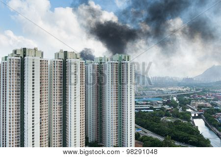 Fire accident in city