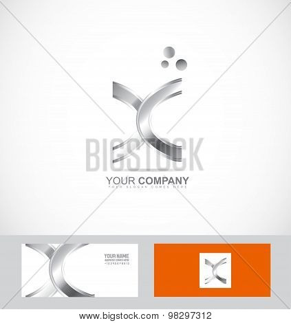 Abstract Metal Silver Sign