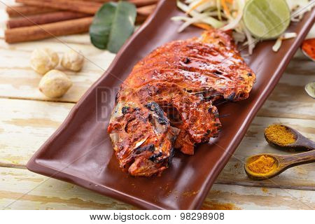 Indian Tandoori Pomfret