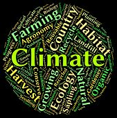 Climate Word Representing Weather Patterns And Meteorological poster