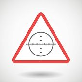 Illustration of a warning signal with a crosshair poster