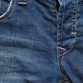 blue denim jeans pants with crotch of trousers poster