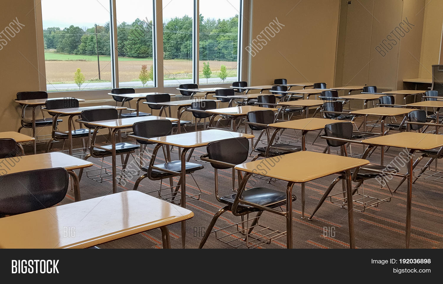 Rows Vacant School Image & Photo (Free Trial) | Bigstock