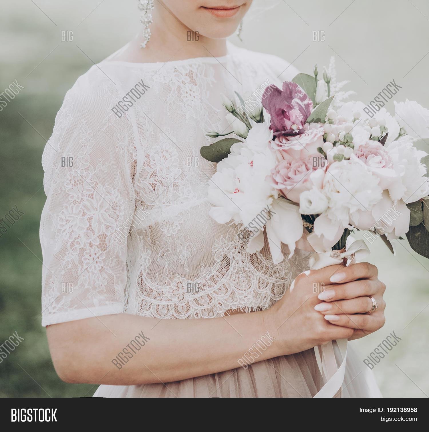 Stylish Wedding Bride Bouquet. Image & Photo   Bigstock