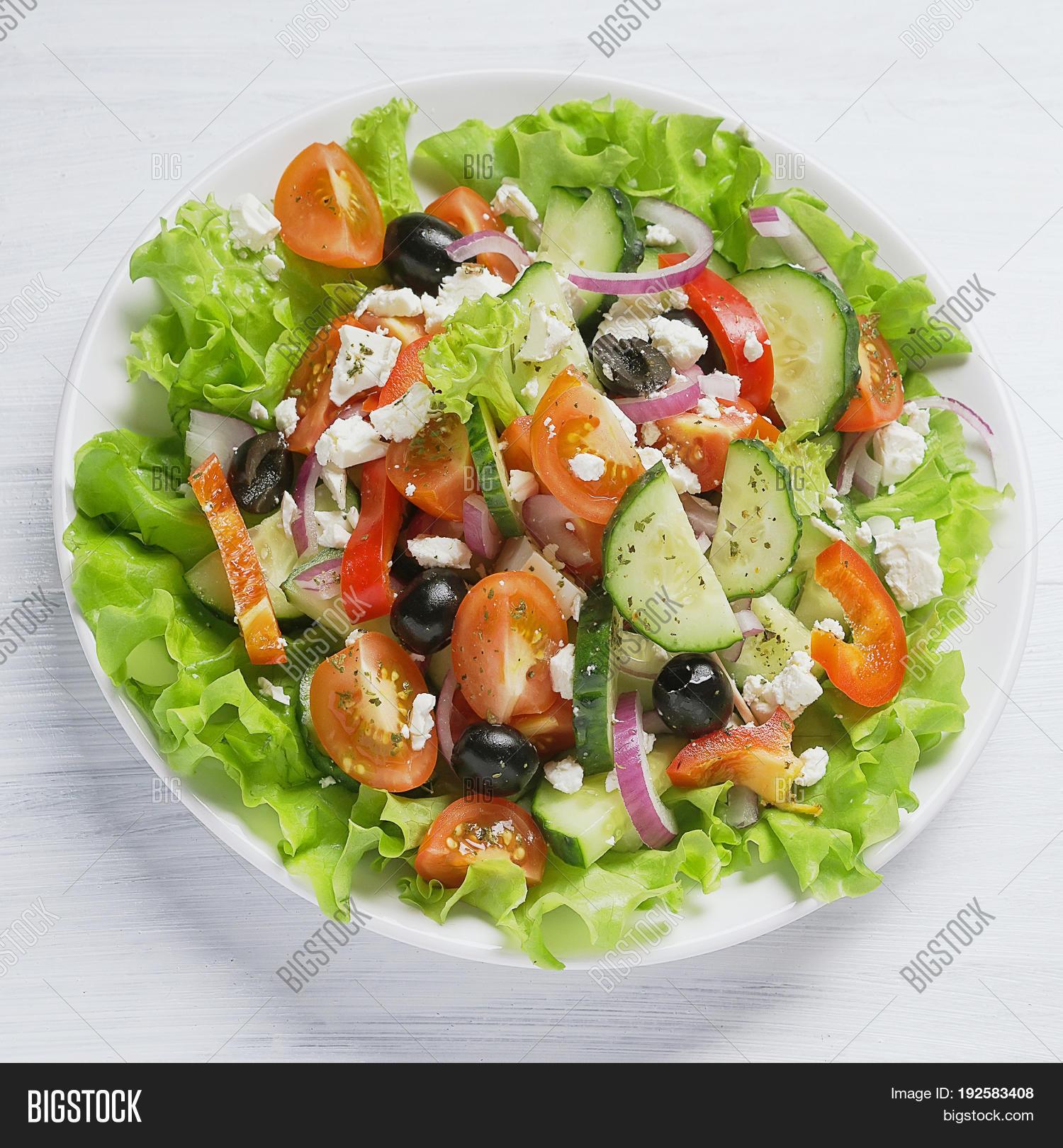 Fresh Vegetable Greek Image Photo Free Trial Bigstock