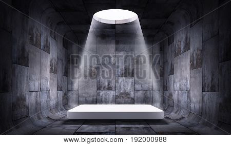 3D rendering of a concrete presentation background