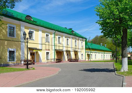 POLOTSK, BELARUS - MAY 19, 2017: Gym of Polotsk State University (complex of buildings of former Jesuit collegium) Streletskaya Street Polotsk Belarus