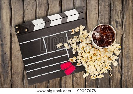 Cup film lemonade popcorn fun entertainment background
