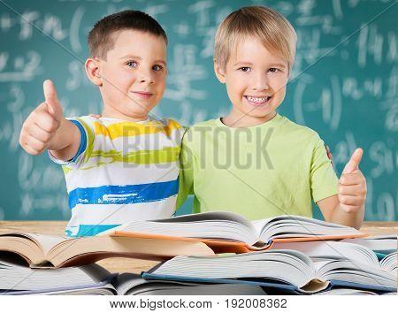 Happy sign boys school ok schoolboys fun