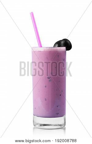 Glass isolated smoothie blueberry white transparent summer