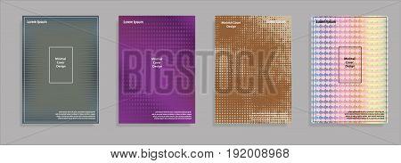 Minimal covers design. Geometric halftone gradients. Eps10 vector