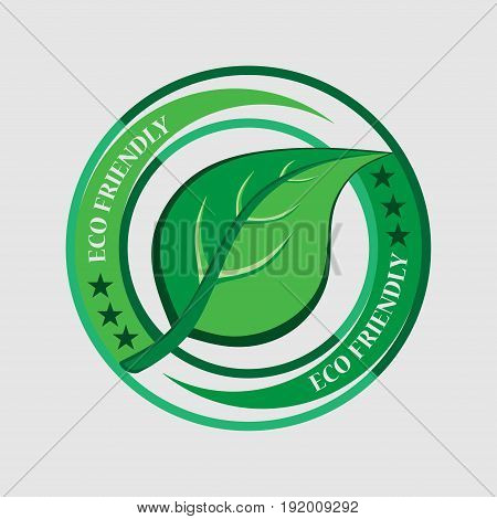 Ecology logo label ecologically clean product Eco friendly sticker flat design image