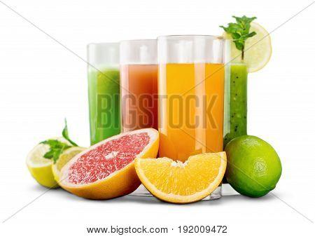 Tasty vitamin juice vitamins fruits color nobody