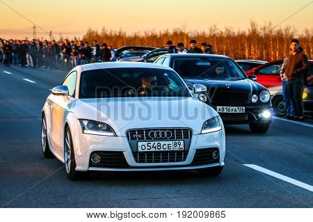 Audi Tts And Mercedes-benz E55 Amg