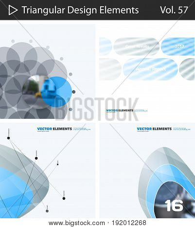 Abstract vector design elements for graphic layout. Modern business background template with colourful soft shapes for tech, pharmacy, health, ecology. Mega collection. Set.