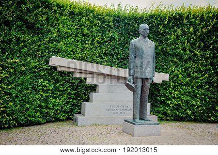 Statue Of Frederick Ix, King Of Denmark In Copenhagen, Denmark