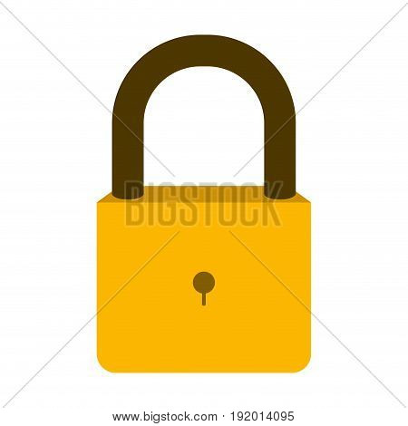white background with colorful padlock vector illustration