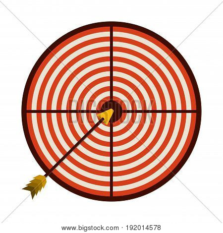 white background with colorful graphic of arrow on target vector illustration
