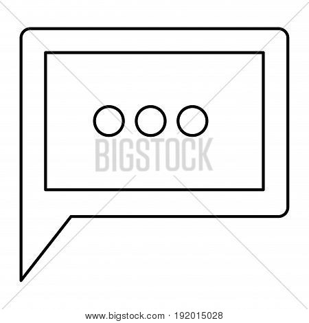 white background with monochrome silhouette square dialogue in closeup vector illustration
