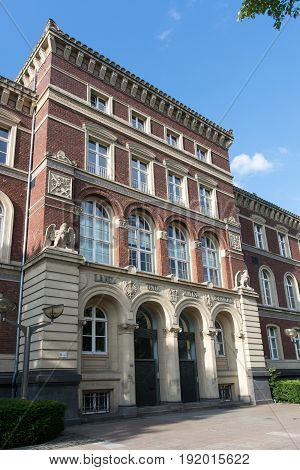 historical house of court at duisburg in germany