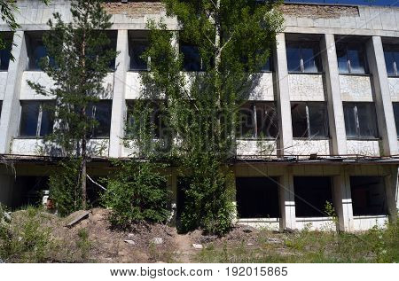 Lost city Pripyat.Chernobyl Exclusion Zone.May 19, 2017.Kiev region.Ukraine