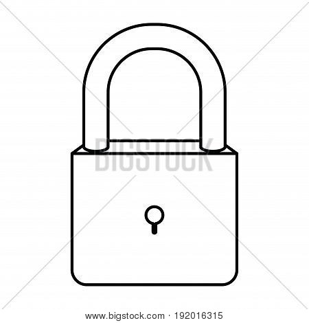 white background with monochrome silhouette of padlock vector illustration