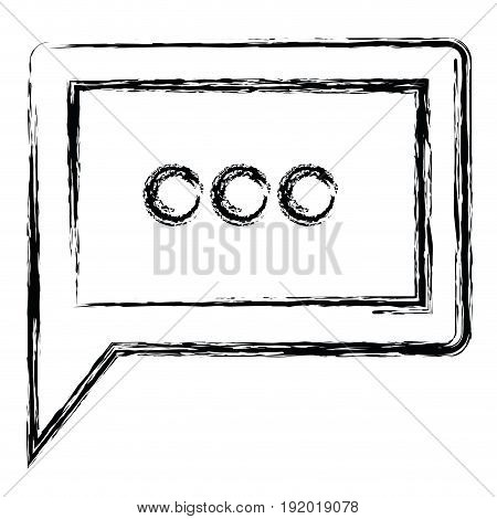 white background with monochrome blurred silhouette square dialogue in closeup vector illustration