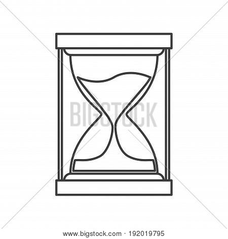 monochrome silhouette of sand clock icon vector illustration