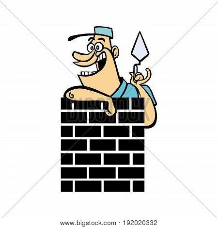 home builder cartoon character . Vector Illustration design